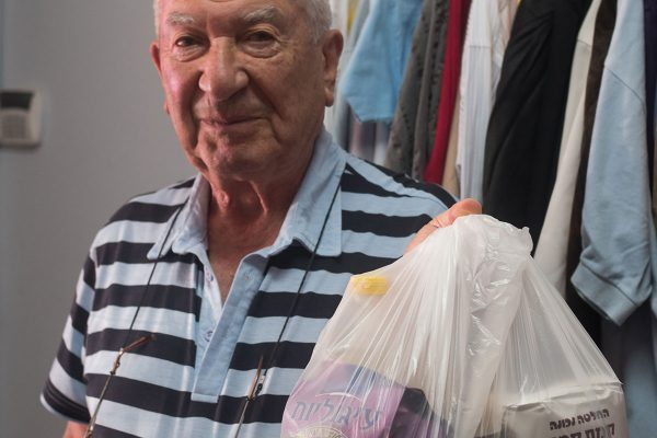 helping Holocaust survivors with food in Israel